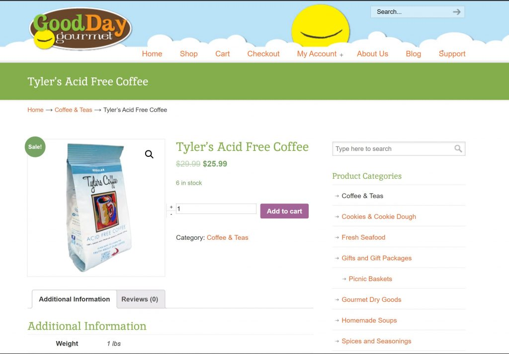 Goodday Gourmet Product Page
